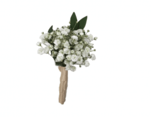 This is a baby's breath boutonniere for prom.